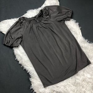 Banana Republic Grey 100% Silk Blouse Small